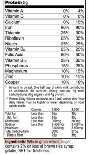 alimenti contenenti fibra riportati in etichetta